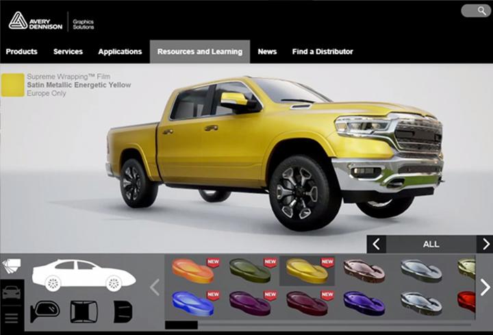 Avery Dennison heeft een Car wrap visualizer ontwikkeld