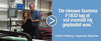 Hagenaar reclame over de Summa F1832 ervaring